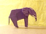 Origami Elephant by John Montroll on giladorigami.com