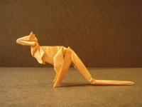 Origami Kangaroo by Stephen Weiss on giladorigami.com