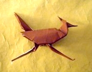Origami Roadrunner by Stephen Weiss on giladorigami.com