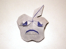 Origami Sad apple by Artur Biernacki on giladorigami.com