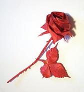 How to make a paper rose LEAF / Paper leaf DIY / Rose paper leaves ... | 184x168