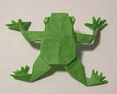 Origami Frog by Peter Budai on giladorigami.com