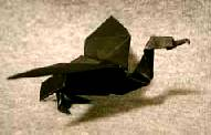 Origami Cormorant by John Montroll on giladorigami.com