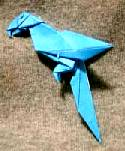Origami Parrot by John Montroll on giladorigami.com