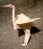 Origami Stork by John Montroll on giladorigami.com