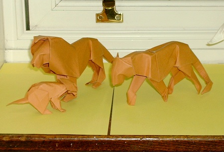 Origami Lioness by David Brill on giladorigami.com