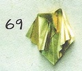 Origami Pleated, fluted, 3D pyramid button ornament by Anita F. Barbour on giladorigami.com
