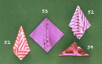 Origami Five fancy squares by Anita F. Barbour on giladorigami.com