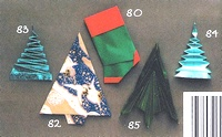 Origami Christmas stocking by Anita F. Barbour on giladorigami.com