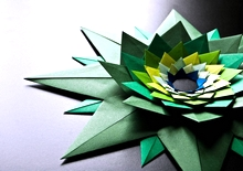 Origami Venetian star by Paolo Bascetta on giladorigami.com