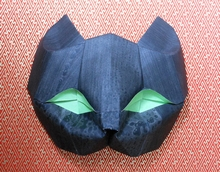 Origami Cat mask by Viviane Berty on giladorigami.com