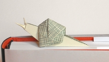 Origami Snail by Viviane Berty on giladorigami.com