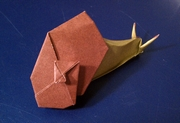 Origami Snail by Peter Engel on giladorigami.com