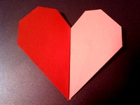 Origami Duo-colored heart by Francis Ow on giladorigami.com