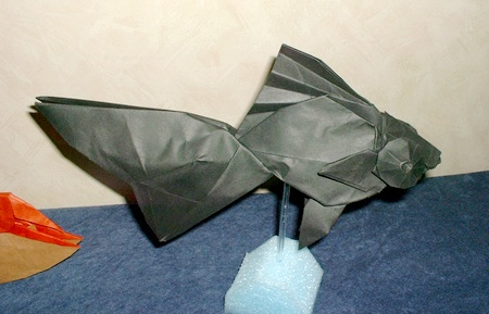 Origami Goldfish - Blackmoor by Ronald Koh on giladorigami.com