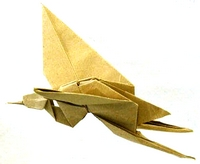 Origami Crane - flapping by Robert J. Lang on giladorigami.com