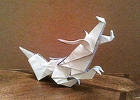 Origami Dragon - Eastern by Satoshi Kamiya on giladorigami.com
