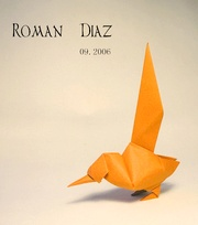 Origami Long-tailed bird by Roman Diaz on giladorigami.com