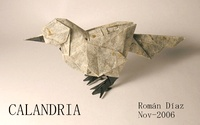 Origami Mockingbird by Roman Diaz on giladorigami.com