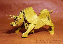 Origami Stock bull by Andrey Ermakov on giladorigami.com