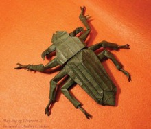 Origami May bug by Andrey Ermakov on giladorigami.com