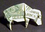 Origami Bison by John Montroll on giladorigami.com