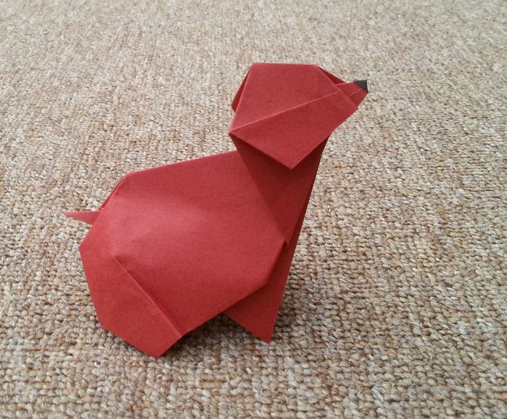 Origami Puppy by Julio Eduardo on giladorigami.com