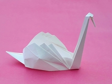 Origami Swan by Ted Norminton on giladorigami.com