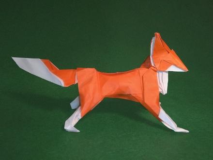 3d origami Nine-tailed fox by kumazaza on DeviantArt | 3d origami ... | 330x440