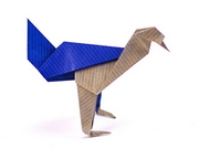 Origami Bowing bird by Jeff Beynon on giladorigami.com