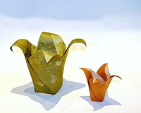 Origami Floral pot by Jeff Beynon on giladorigami.com