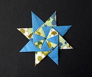 Origami Eight-pointed star 1 by Francisco Javier Caboblanco on giladorigami.com