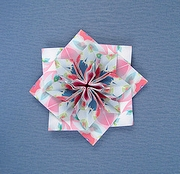 Origami Flower-shaped brooch by Manabu Ichikawa on giladorigami.com
