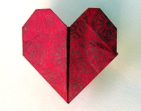 Origami Standing heart by Paul Jackson on giladorigami.com