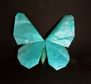 Origami Butterfly - Tropical Morpho by Robert J. Lang on giladorigami.com