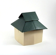 Origami Houses with interchangable roofs by Jun Maekawa on giladorigami.com