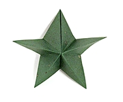 Origami Silver star by Jun Maekawa on giladorigami.com
