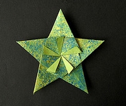 Origami 5 point modular star by Jose Meeusen (Krooshoop) on giladorigami.com