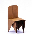 Origami Chair by John Montroll on giladorigami.com