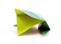 Origami Frog with a big mouth by Robert Neale on giladorigami.com