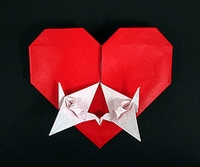 Origami Love birds by Francis Ow on giladorigami.com