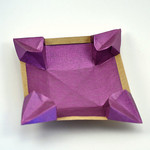 Origami Petal dish by Philip Shen on giladorigami.com