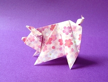 Origami Scolli pig by Sok Song on giladorigami.com