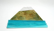 Origami Mount Fuji and the sea by Takekawa Seiryo on giladorigami.com