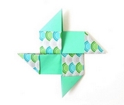 Origami Reverse pinwheel by Florence Temko on giladorigami.com