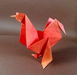 Origami Rooster by Florence Temko on giladorigami.com