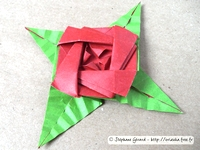 Origami Rose brooch by Sy Chen on giladorigami.com