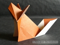 Origami Fox by Peterpaul Forcher on giladorigami.com
