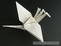 Origami 3-headed crane by Jun Maekawa on giladorigami.com