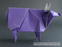 Origami Cow by Jun Maekawa on giladorigami.com